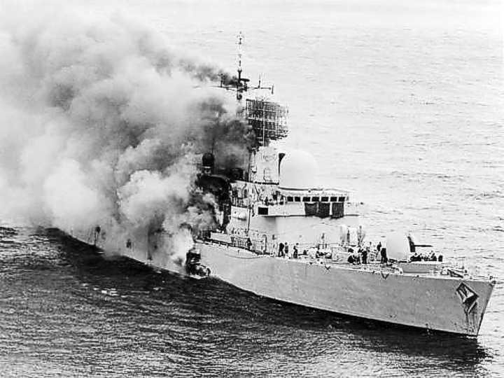 HMSSheffieldBurning1